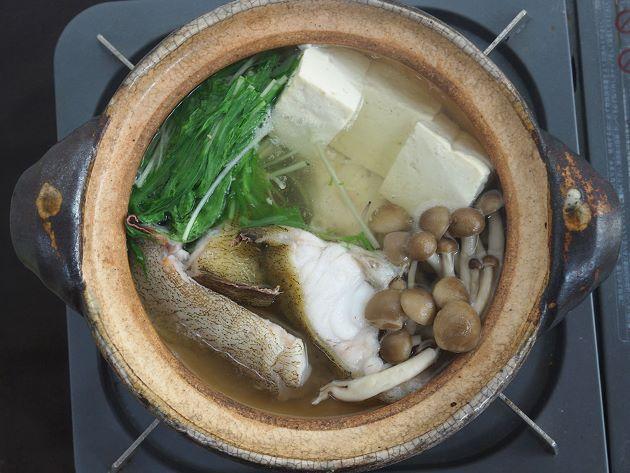イタチウオのちり鍋