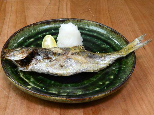 タカベの塩焼き