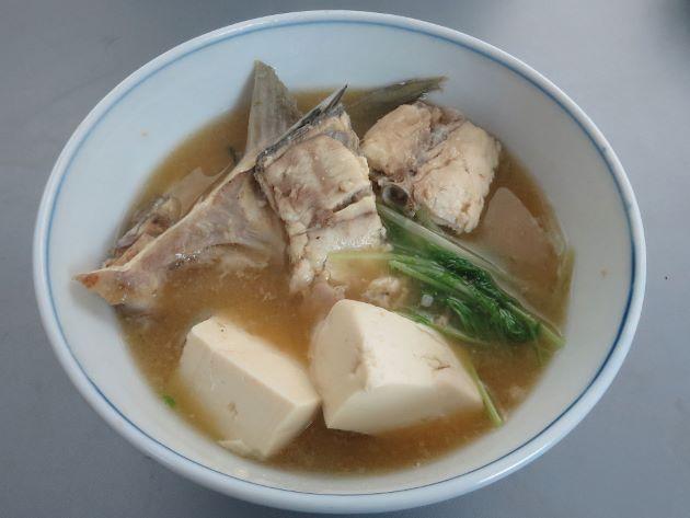 ロウニンアジのみそ汁(魚汁)