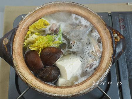 キビレカワハギのちり鍋