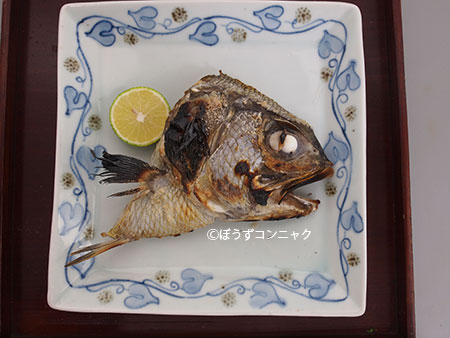 アラメギンメの塩焼き