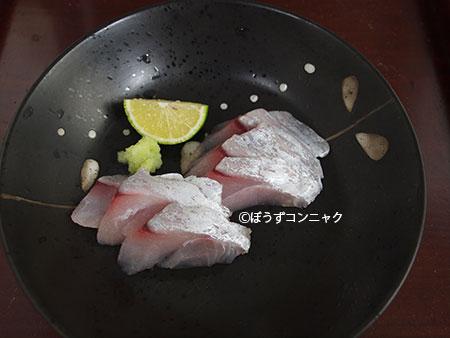 アラメギンメの刺身