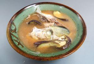 ウマヅラアジのみそ汁