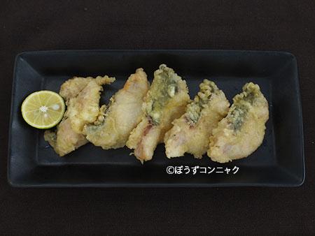 イワトコナマズの天ぷら