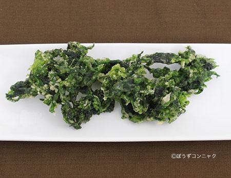 ヒロハノヒトエグサの天ぷら