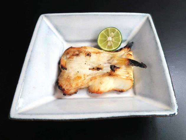 ホシガレイの腹身の塩焼き