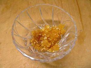 ホテイウオの卵巣の醤油漬け