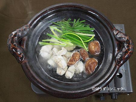 ナシフグのちり鍋