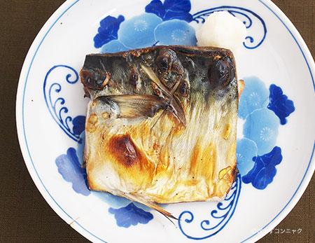 マサバの塩焼き