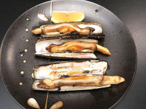 エゾマテガイの焼き貝