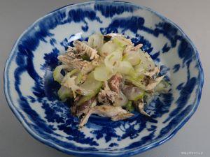 笹めじかの煮節と昔きゅうりの酢のもの