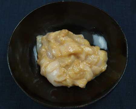 マンボウの酢味噌和え