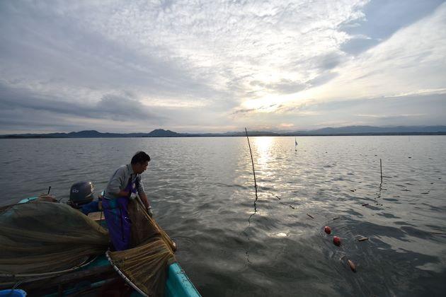 八郎潟ワカサギ漁