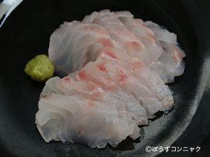 タテスジハタの刺身