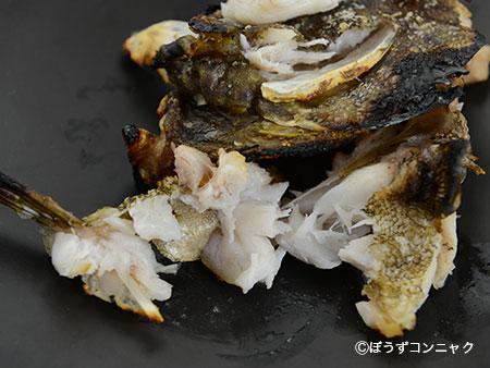 タテスジハタの塩焼き