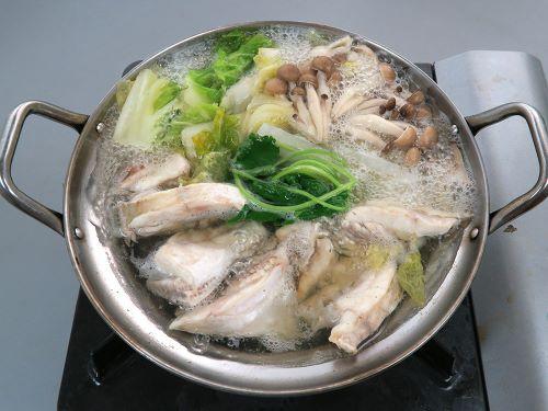 ウマヅラハギのちり鍋