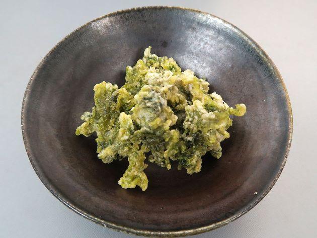 ツクシアマノリの天ぷら