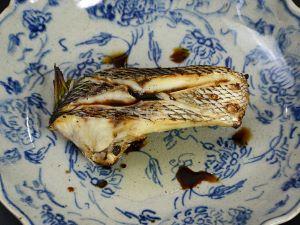 ヨコシマフエフキの塩焼き