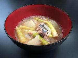 ネマガリタケの竹の子汁