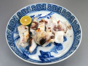 アオリイカの塩焼き