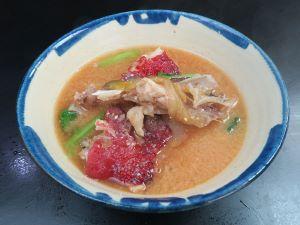キツネベラの魚汁