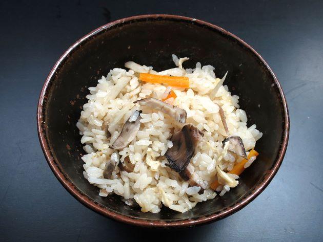 トンビマイタケの炊き込みご飯