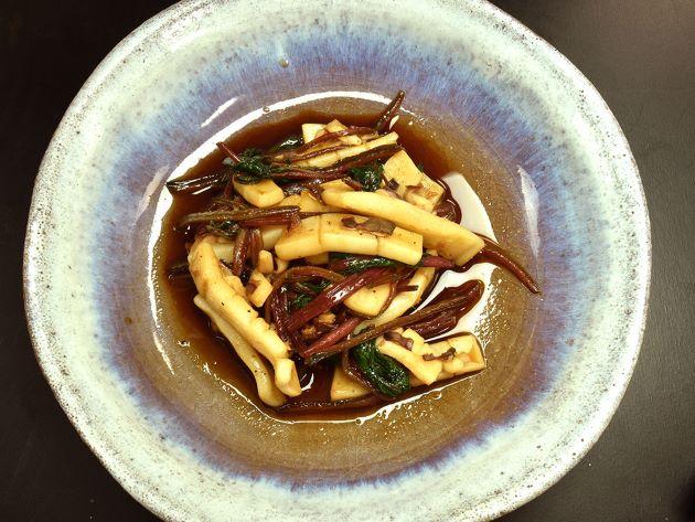 ブドウイカの炒め煮