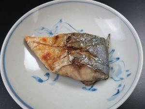 マブタシマアジの塩焼き