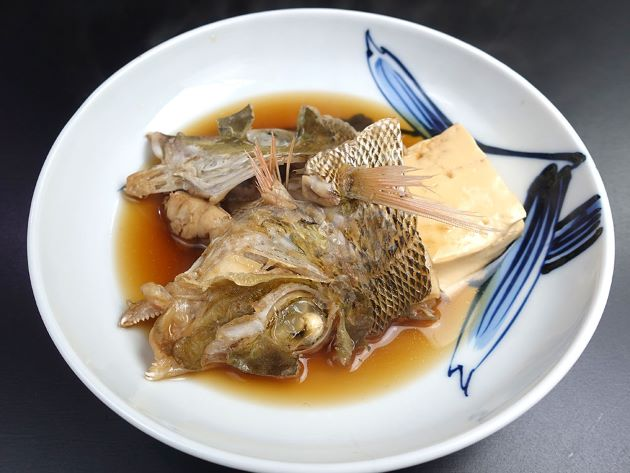 タテシマフエフキの煮つけ