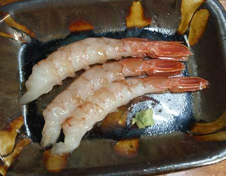 アルゼンチンアカエビの刺身