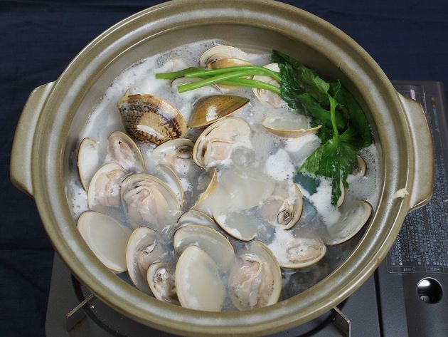 チョウセンハマグリの鍋