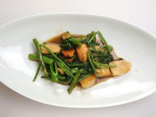 ホタテガイの中華炒め