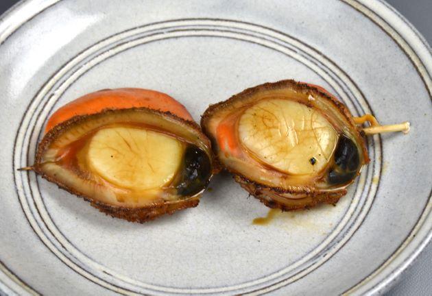 ツキヒガイの貝殻焼き