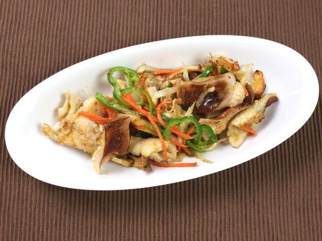 貝と野菜のバターソテー