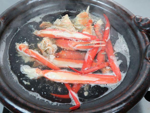 ベニズワイガニの鍋