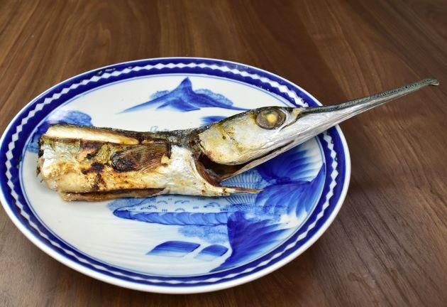 テンジクダツの塩焼き