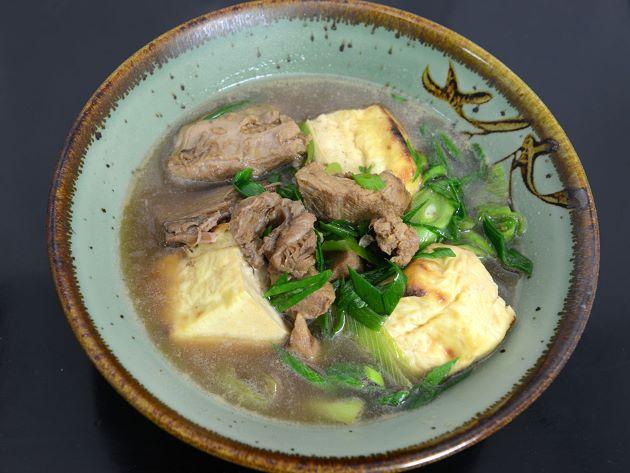 メバチのあらと焼き豆腐の煮込み汁