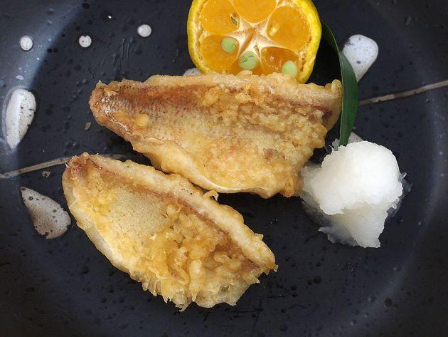 ハナダイの天ぷら
