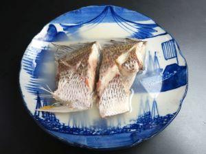 キチヌの酒塩煮