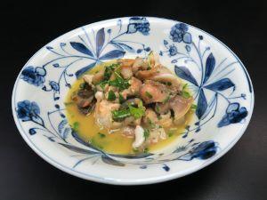 ミギマキタテゴトナシボラのバター焼き