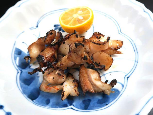 ミギマキタテゴトナシボラの焼き貝