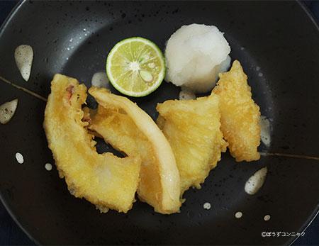 ケンサキイカの天ぷら