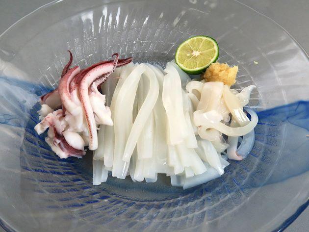 ケンサキイカの刺身