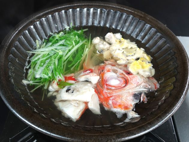 フウセンキンメのちり鍋