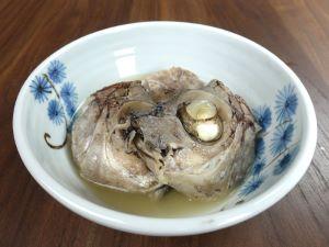 ツボダイの兜の酒塩煮