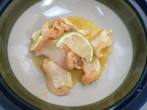 チヂミエゾボラのバター焼き
