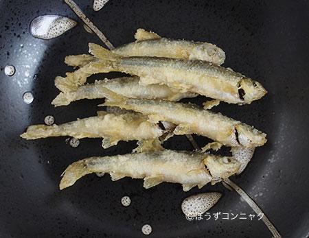 ホンモロコの天ぷら