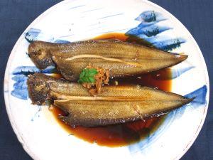 コウライアカシタビラメの煮つけ