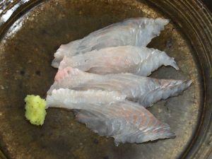 コウライアカシタビラメの刺身