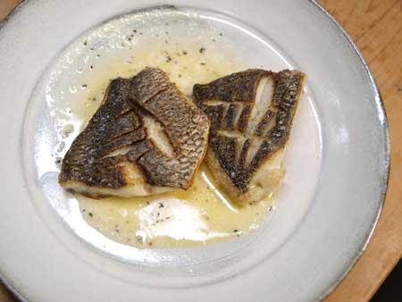 クロダイのバター焼き